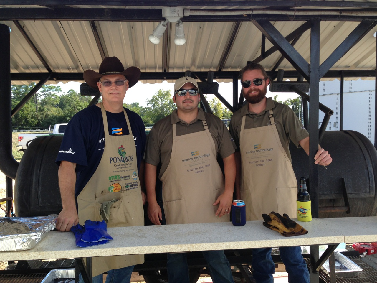 Once again Rick and Reed cooked for the MTS Houston BBQ which was held at Delta Subsea